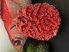 Afbeeldingen van Paddenstoel vaas. Rood