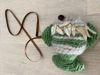 Afbeeldingen van Vis groen met schelpen