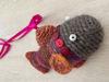 Afbeeldingen van Vis meerkleurig met knopen