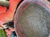 Afbeeldingen van Gehaakte schaal rose, oranje en bruin